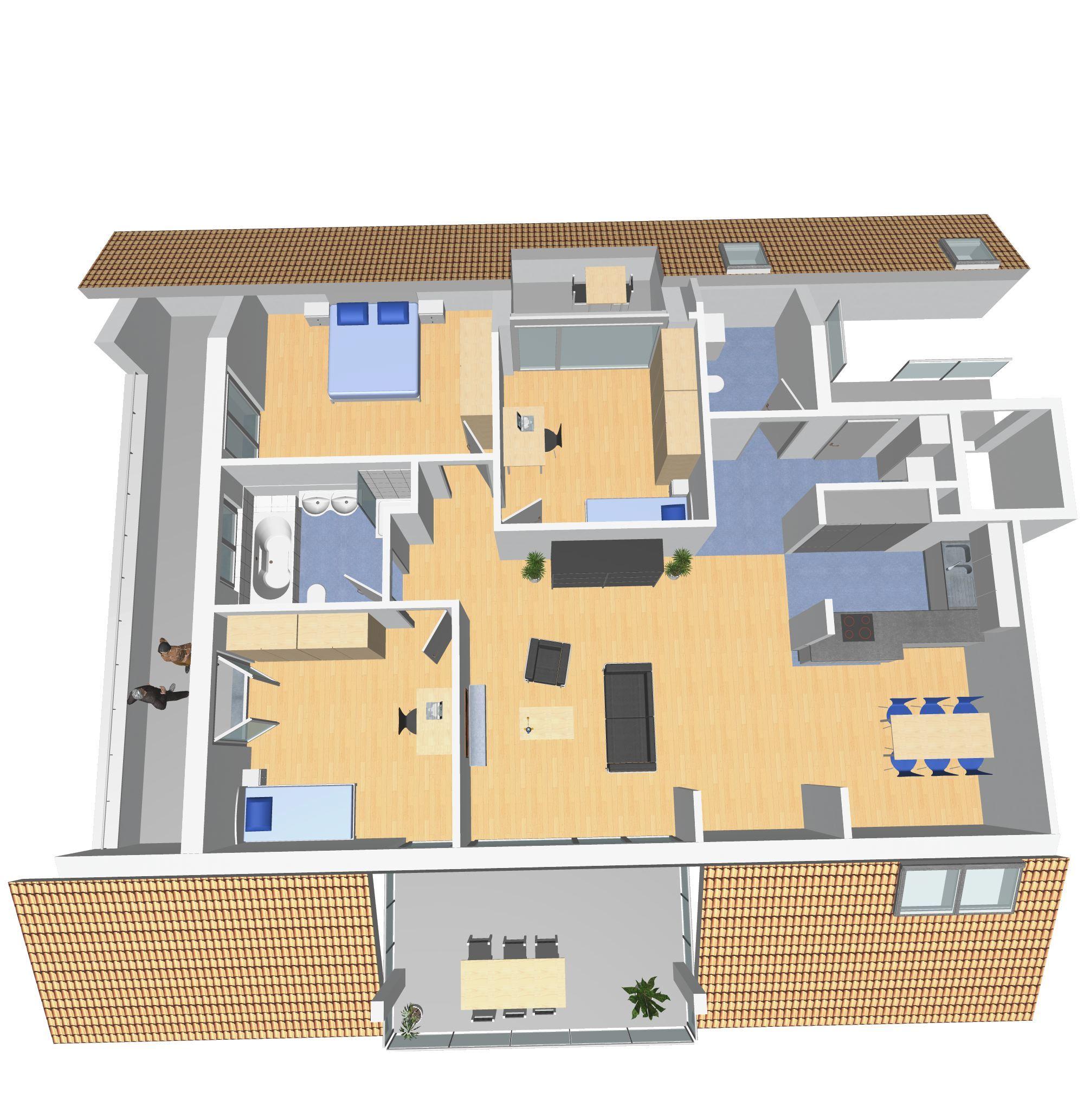 4 5 zimmer attika whg west leimbach landi. Black Bedroom Furniture Sets. Home Design Ideas